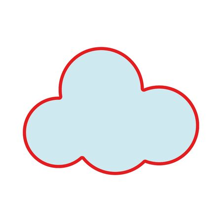 cloud natural design and nice weather Illustration