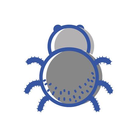 Spinnen insect dier en gevaarlijk symbool icoon