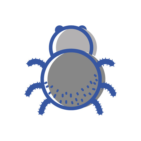 spider insect animal and dangerous symbol icon Illustration