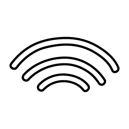 wireless signal: line wifi digital symbol to digital information Illustration