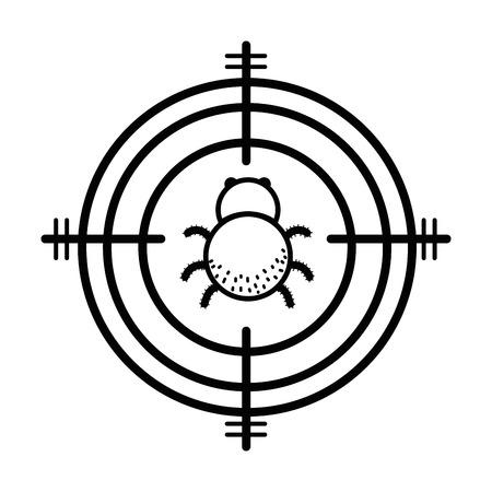 Lijn spinnen insect dier symbool en gevaarlijk symbool icoon