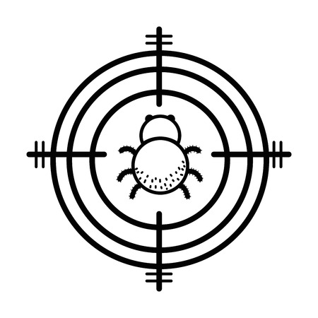 line spider insect animal symbol and dangerous symbol icon