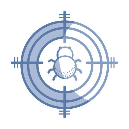 Silhouet spider insect dier symbool en gevaarlijk symbool icoon