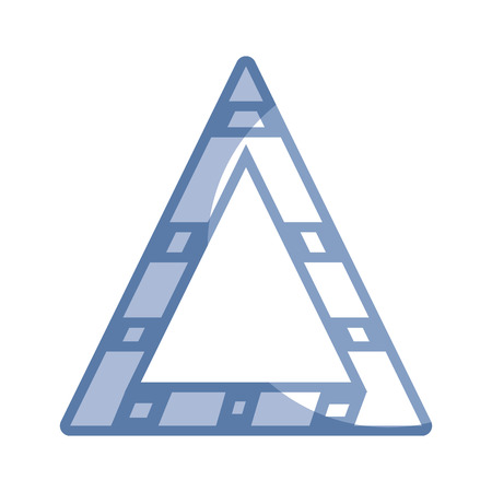 dangerously: silhouette triangle attention symbol to security precuation