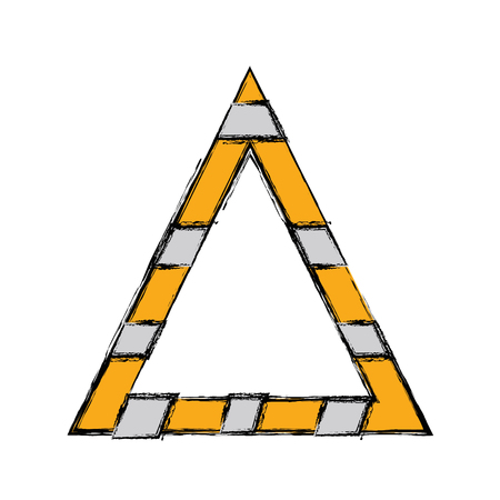 triangle attention symbol to security precuation Illustration