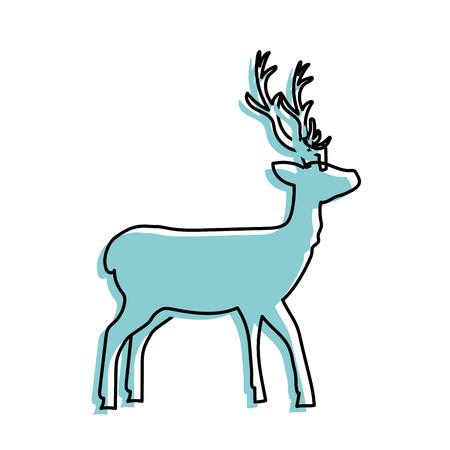 Deer wild animal to natural reserve