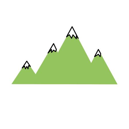 Besneeuwde bergen en schoonheidslandschap Stock Illustratie