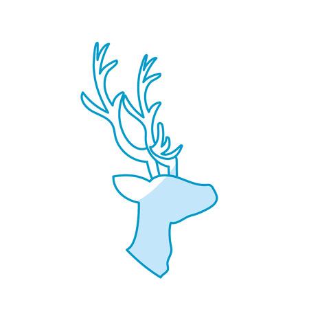 deer wild animal to natural reserve Illustration