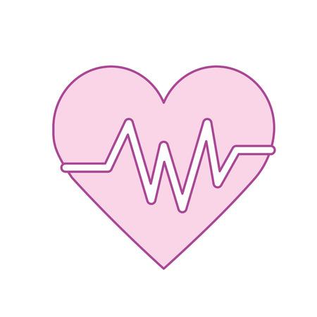 systole: heartbeat element to know cardiac rhythm vector illustration
