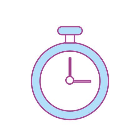 endurance run: chronometer element to training sport vector illustration