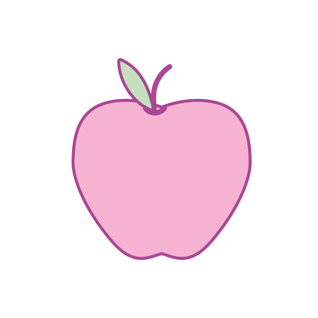 delicious apple fresh fruit nutrition vector illustration Illustration