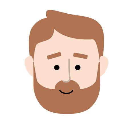 man face with hairstyle design vector illustration