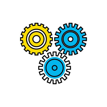 industry gears to process engineering vector illustration Illustration