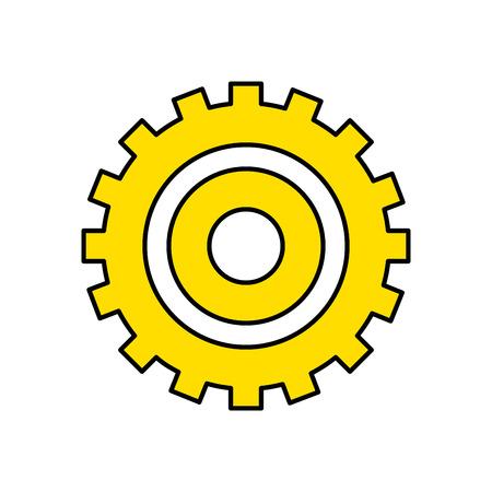 industry gear to process engineering vector illustration Illustration