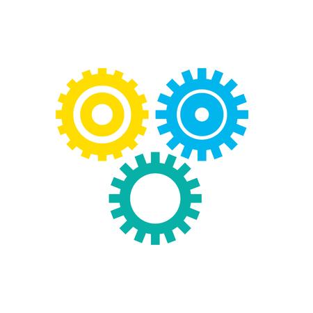 Industry gears to process engineering vector illustration Illustration