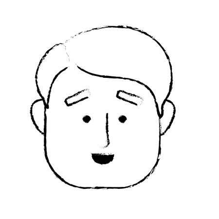 figure man face with hairstyle design Illustration