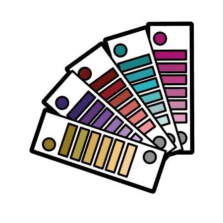 color palettes painted decoration design vector illustration Ilustrace