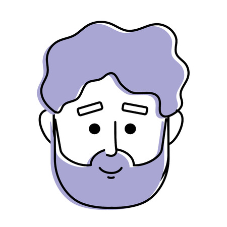 A man face with hairstyle design vector illustration.
