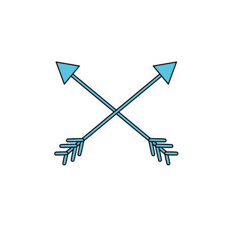 arrows in cross with pointer design Illustration