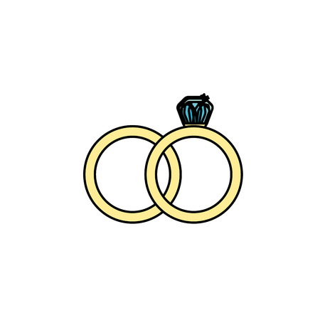 wedding ring to symbolic the love Illustration