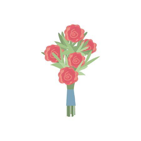 beauty bouquet flowers with petals design