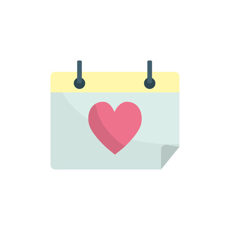 calendar with heart to romantic special day