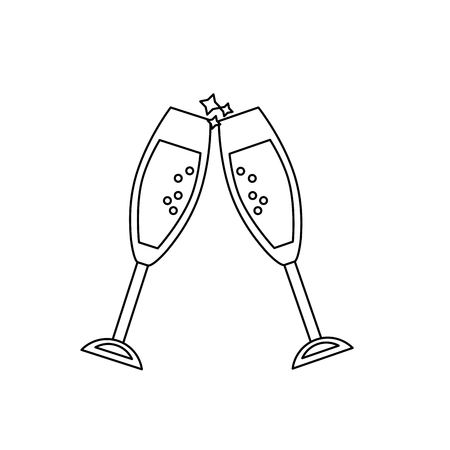 line wine glass to celebrate of important day Illustration