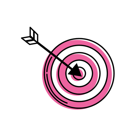 dart board: arrow with target board to play Illustration