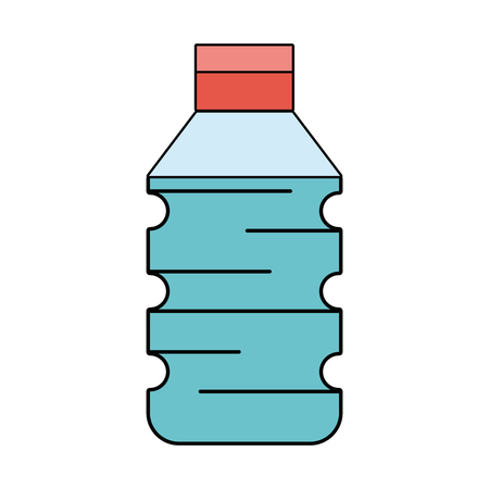water plastic bottle to drink and healthy lifestyle vector illustration