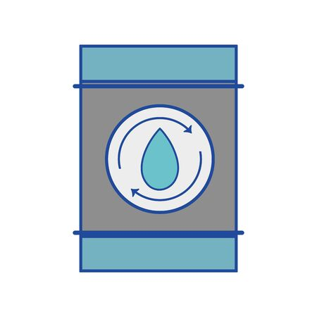 water tank to environment care vector illustration
