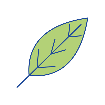 natural leaf symbol to conservation the environment vector illustration