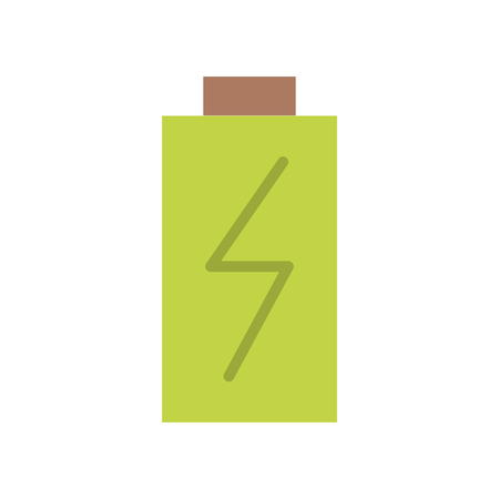 discharges: battery power electric digital charge vector illustration Illustration