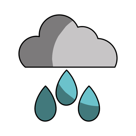 windy day: cloud with rain and natural weather vector illustration icon