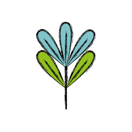 natural plant with botanic leaves design vector illustration