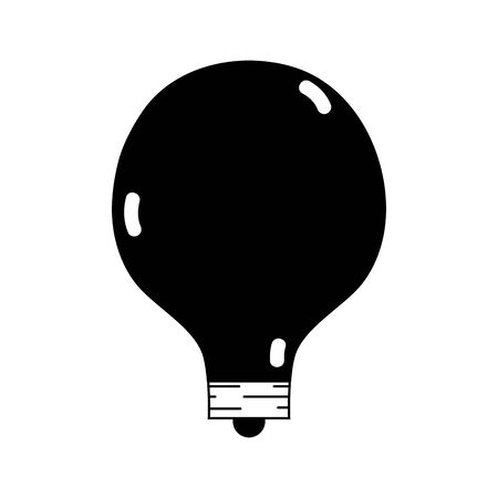 contour energy bulb to illuminate places vector illustration icon