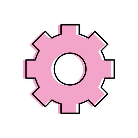 gear industry technology information icon vector illustration
