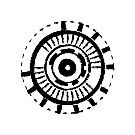 eyeball connection in the digital interface and cyberspace vector illustration Illustration