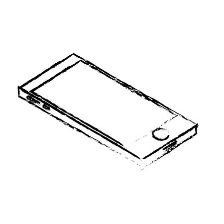 using smart phone: figure technology smartphone to electronic communication vector illustration