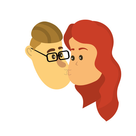 avatar couple face kissing with hairstyle design
