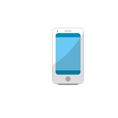 using smartphone: technology smartphone to electronic communication Illustration