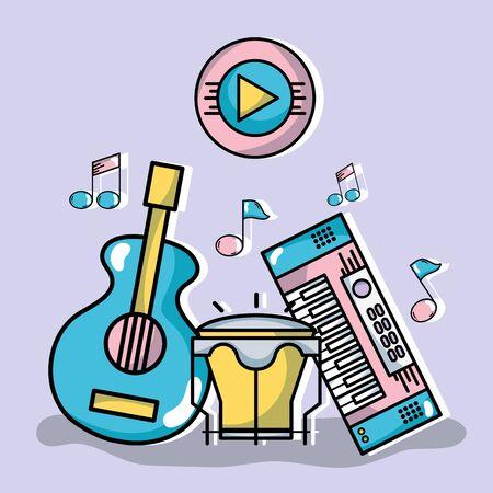 music elements to play harmony rhythm