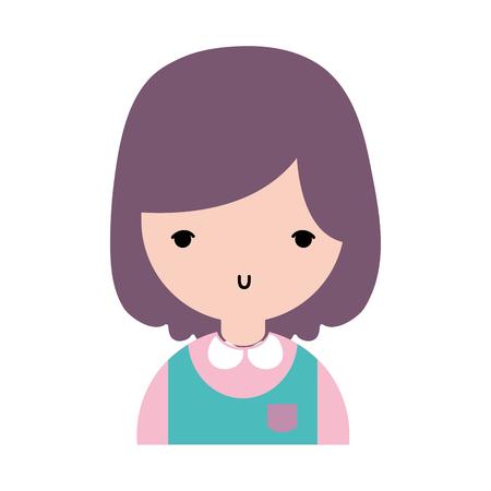 Schoonheid meisje met kapsel en uniforme kleding Stockfoto - 82587163