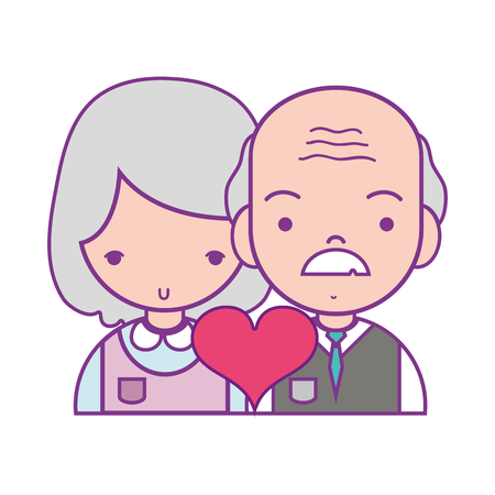 Couple with beauty relationship and heart