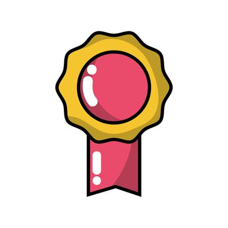Medaille-symbool voor winnaar van competitiewedstrijd