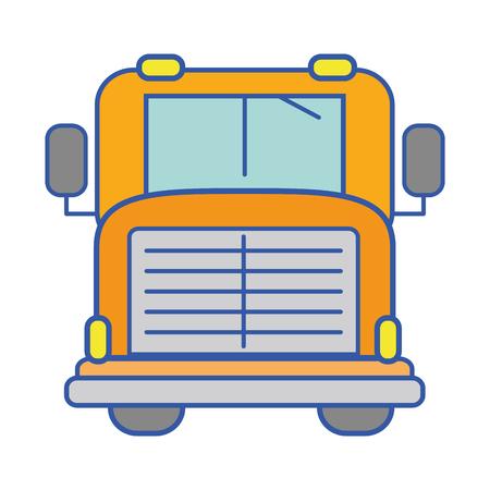 yellow schoolbus: yellow school bus to children transportation Illustration