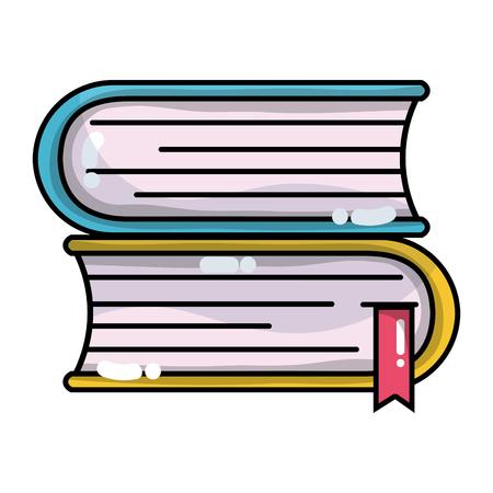 livres avec des informations importantes pour apprendre et lire Vecteurs