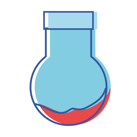 erlenmeyer flask to scientific experiment lab Illustration