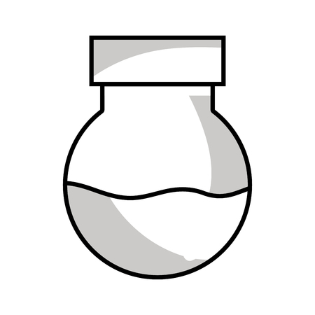 line erlenmeyer flask to scientific experiment lab Illustration