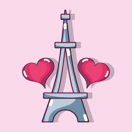 eiffel tower with heart design decoration
