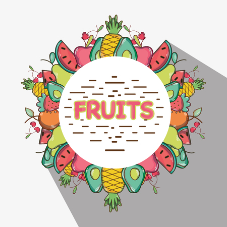 delicious and fresh tropical fruits background